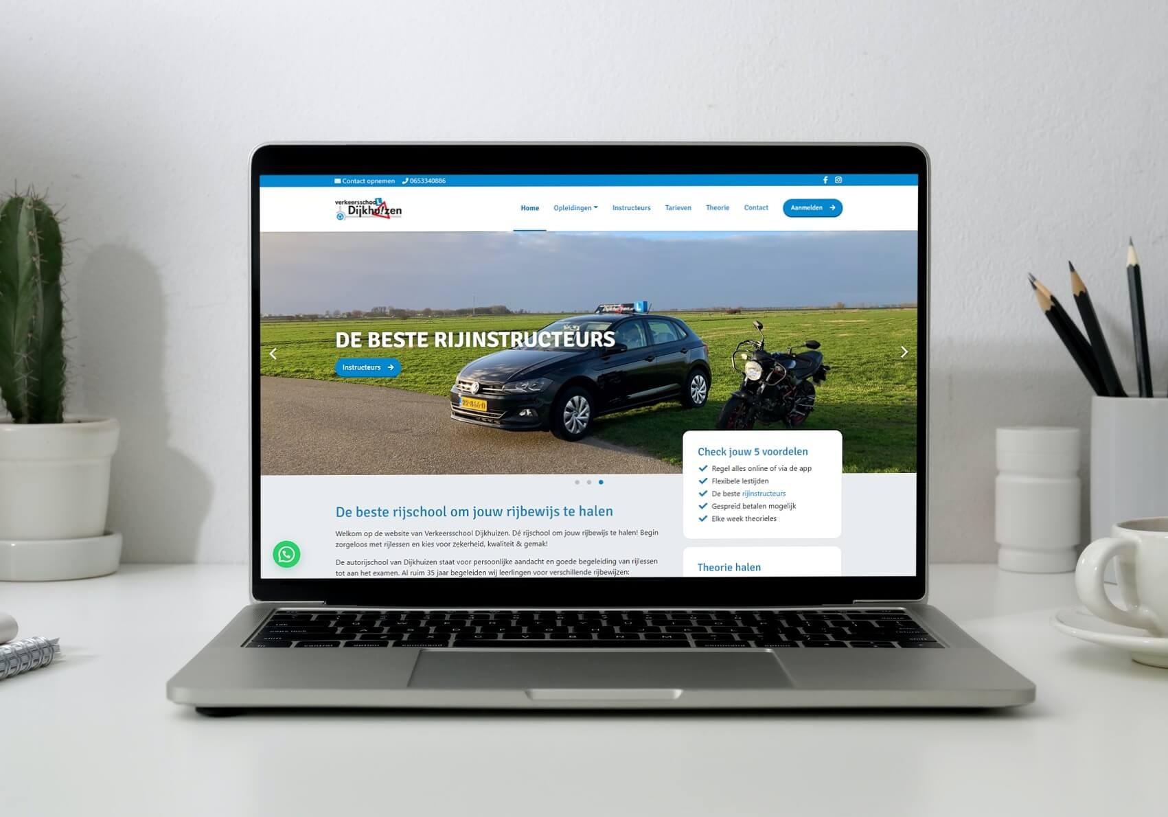 Nieuwe website voor Verkeersschool Dijkhuizen