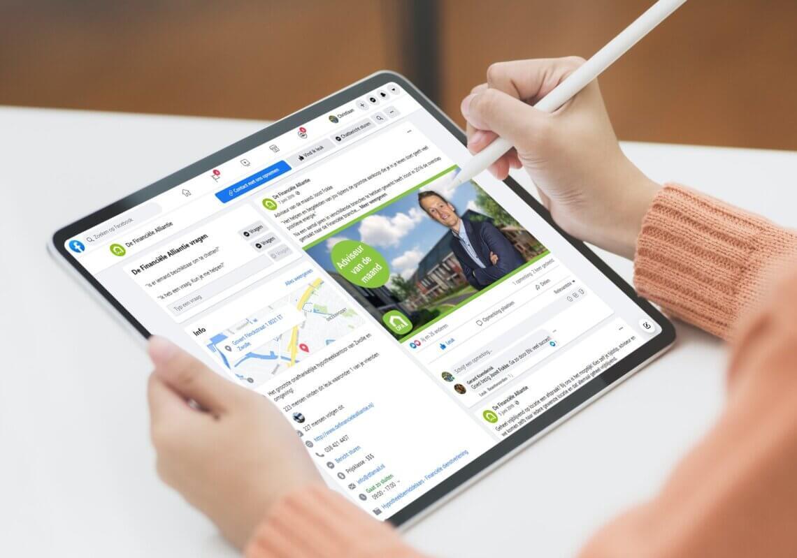 Online marketing en social media voor De Financiële Alliantie