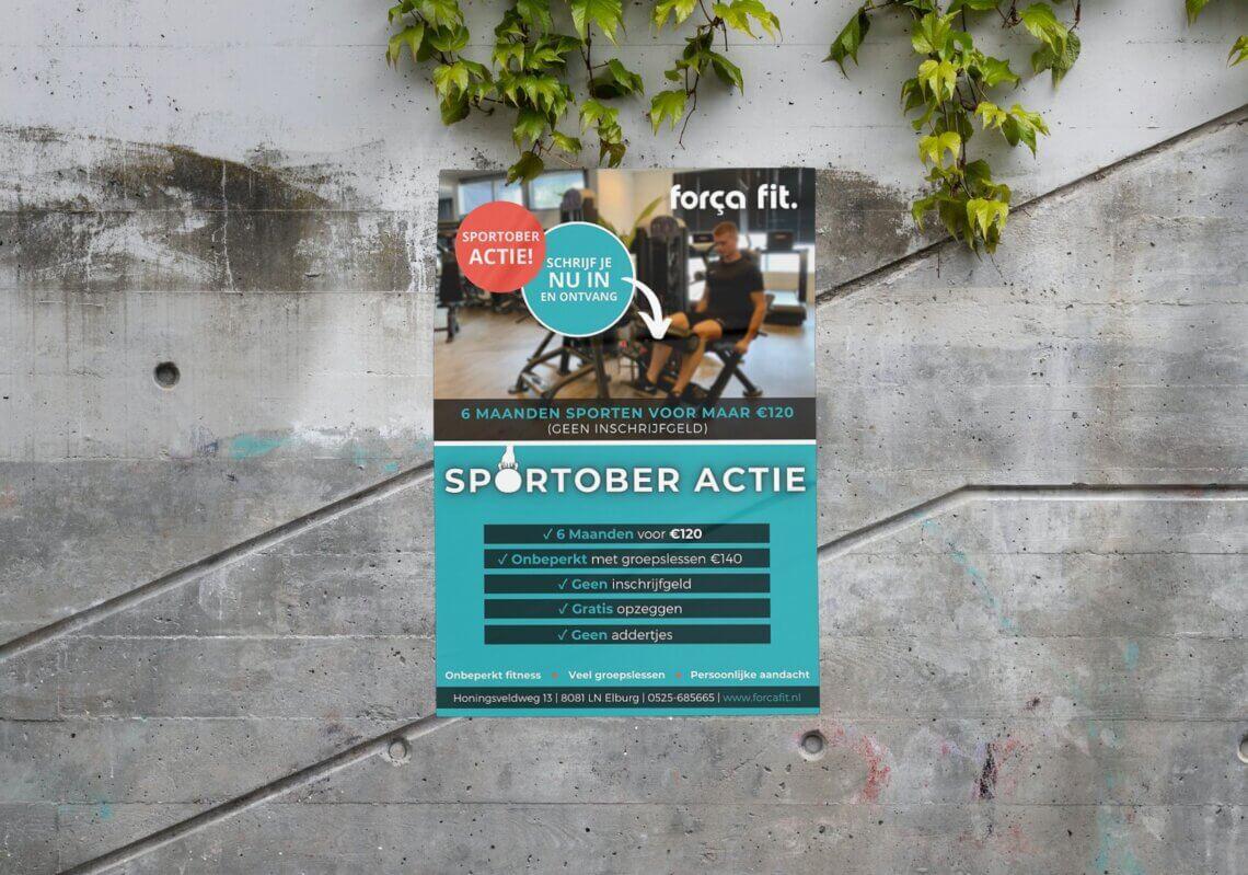 Flyer voor Força Fit